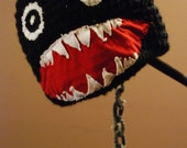 Crocheted Chain Chomp Hat