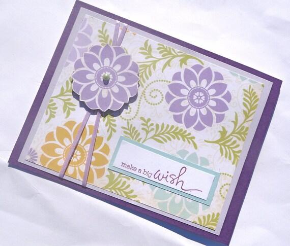 Floral Happy Birthday Greeting Card - Handmade