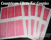 Valentines Day/ Anniversary Countdown Cards For Couples