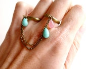 Blue ring ( baby pink, double ring, pirate, multi strands, multi chains, love ) 33