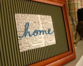 Home - Use Your Words Framed Embroidery Wall Art