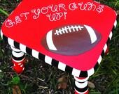 Texas Tech Stool Collegiate Texas Tech University Foot Stool, Red Raiders Football Stool for Kids Kids Texas Tech Stool