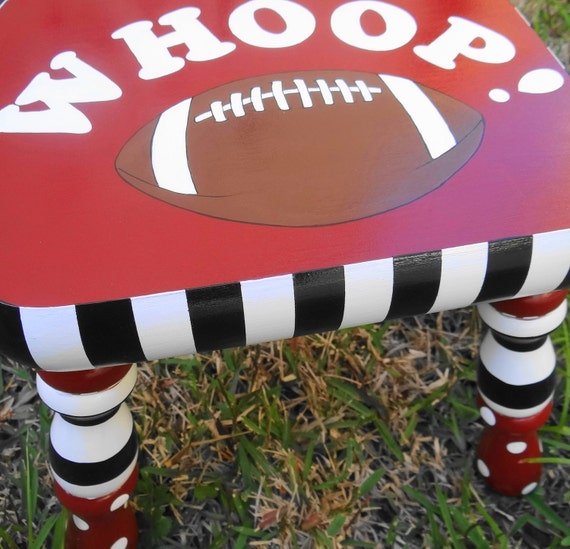 Aggie Kids Stool Furniture Personalized College Theme Stool Collegiate Foot Stool Texas A and M Foot Stool Whoop Stool