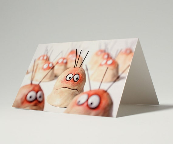 WORRY WART funny greeting card