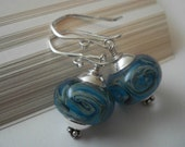 Echoes - Handmade Boro Glass and Sterling Silver Earrings