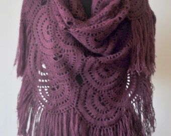 Purple Moonami Shawl/Stole/Warmer/Shrug/Capelet Great Gift for Christmas