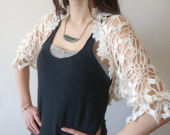 Mother's Day Stunning Vintage Look Bolero for Beautiful Weddings /  A perfect bride shrug