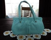 Vintage Light Blue Purse