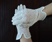 Vintage Easter Sunday Womens Lace Gloves