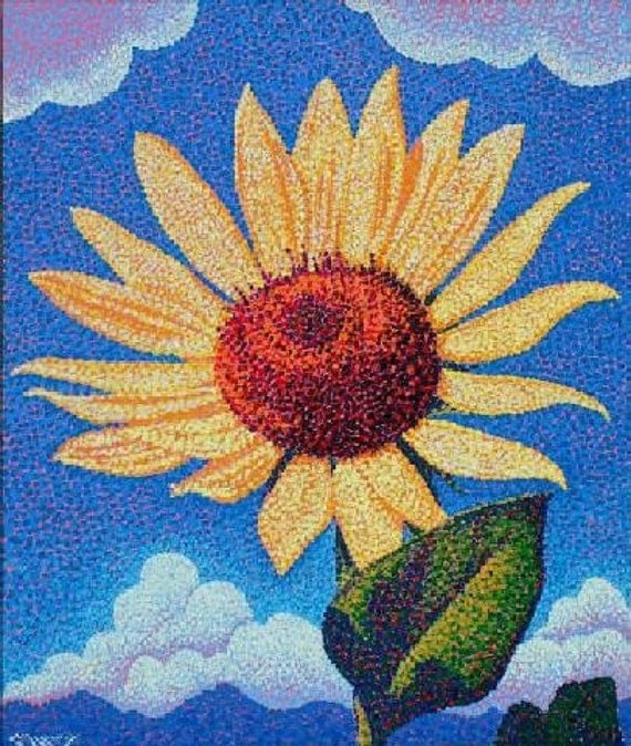 Sunflower Painting Original 20 x 24 by Ed McCarthy
