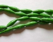 Kelly Green Hand Rolled Paper Beads