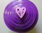 Large Purple Quilled Ring or Trinket Box