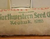 Seed Sack Pillow Northwestern
