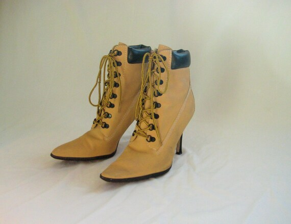 manolos timberland looking heels