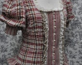 Victorian Steampunk Shirt--Custom---Made to Order---Regular or Plus Size---Adjustable (sizes 6-24)
