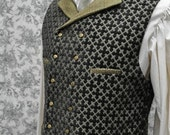 Men's Steampunk Vest--Handmade--Custom Tailored--Made to Measure--Double or Single Breasted Option--small-medium-large-extra large-xxl