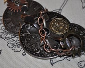 Lost in Time------Pin---Boutonniere----Brooch-----Clock-------Gears-----Metal