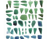 painting Sea Finds  Beach glass Watercolor dreamt clickety art inspirationtteam teal blue green peridot turquoise emerald teamspirit