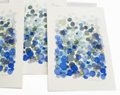 Notecard post card - Bubbles  - Blue dots original art card ultramarine holland dutch design