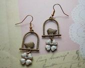 Flower Bird Child earrings