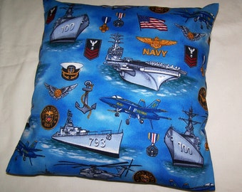 United States Navy Toss Pillow Cover