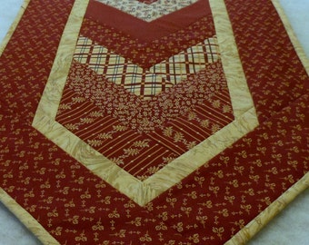 Fabric Chevron Table Runner Barn Red
