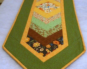 Chevron Cloth Table Runner Golden Afternoon