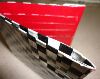 Duct Tape Wallet (Checkers with Red)