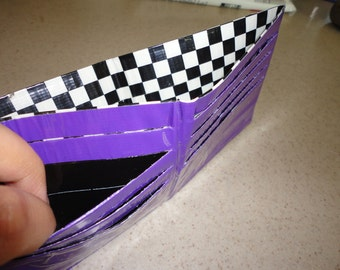 Duct Tape Wallet (Checker with Purple)