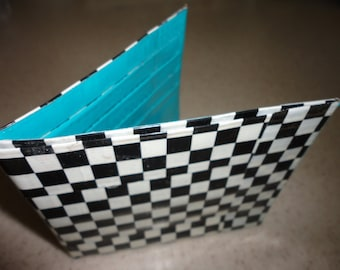 Duct Tape Wallet (Checkers with Blue)