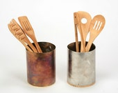Stainless Steel & Bamboo Plywood Utensil Holder -Eco friendly decorations for your kitchen.