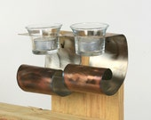 Stainless Steel Wall Votive Candle Holders (Discount When You Buy Two) -Eco friendly decorations for your home.