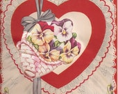Antique Valentine Greeting Card, 1940s, from Nanas Vintage Shop on Etsy