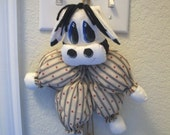 Cow with Bells, Wall or Door Hanger, by Nanas Vintage Shop on Etsy