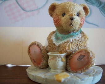 Cherished Teddies, BENJI, Life is Sweet Enjoy, 1991, Plus free Cherished Teddy by Nanas Vintage Shop on Etsy