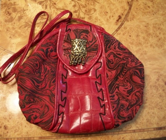 Red Leather Purse, by Nanas Vintage Shop  on Etsy