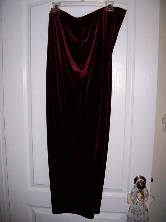 Burgundy Velvet Pants by béchamel, Size 2XL