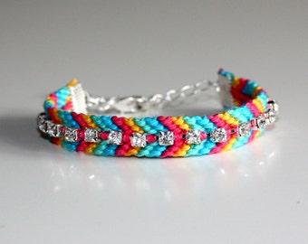 Chevron rhinestones friendship bracelet