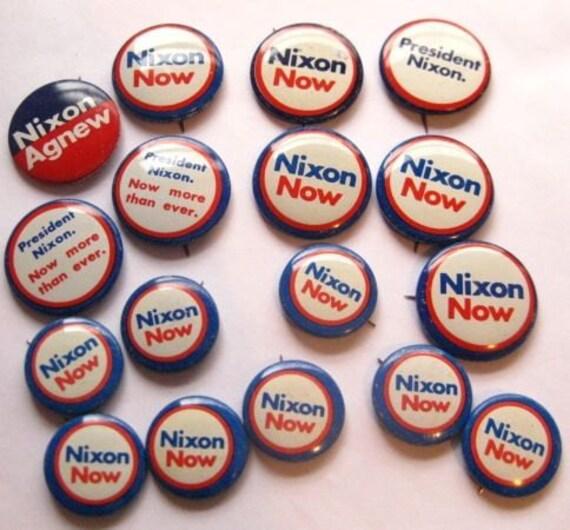 20 PERCENT OFF  Vintage Lot of 17 Nixon Campaign Buttons