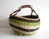 SALE Woven Market Basket