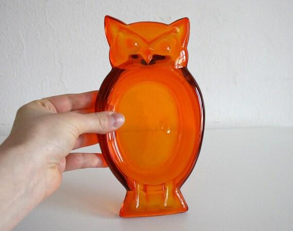 Orange Owl Dish