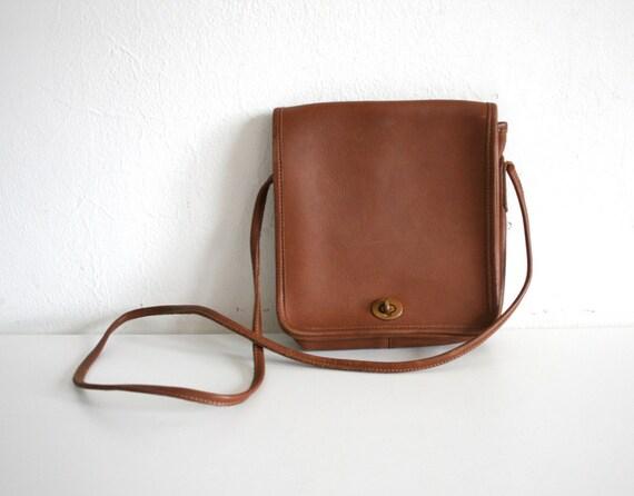 Cognac Coach Shoulder Bag
