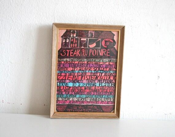 Steak Recipe Wall Hanging