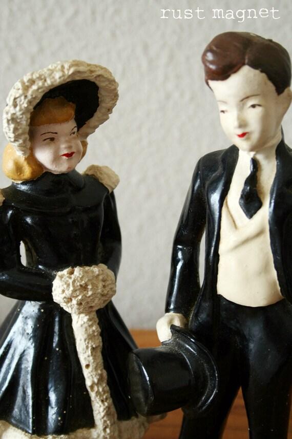 1940s Bride and Groom Figurines