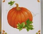 Ceramic Pumpkin Tile - Shades of Autumn - 1984 -  Avon Collectible - Trivet - Wall Decor - Autumn  Decor - Home Decor - Fall Colors