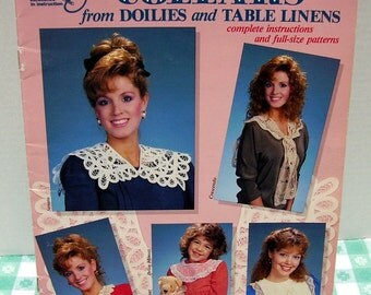 Craft Booklet - Collars from Doilies and Table Linens by Bobbie Matela - copyright 1987 - Instructions - Patterns