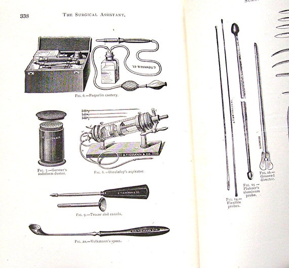 Vintage Medical Textbook - Surgical Assistant - Walter M Brickner, MD - 2nd Edition, Copyright 1907