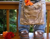 Upcycled Cargo Pants Bag. Fall Fashion. Alexander Henry Route 66. FREE Shipping
