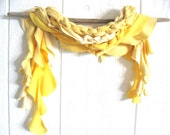 Eco Friendly. Upcycled T-Shirt. Fall Fashion. Let The Sunshine In. Yellow. Scarf Set. FREE Shipping