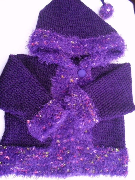 Knitting Pattern Hooded Jacket : Easy Baby Hooded Jacket And Booties Knitting Pattern